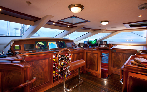 Sailing yacht TIARA -  Wheelhouse